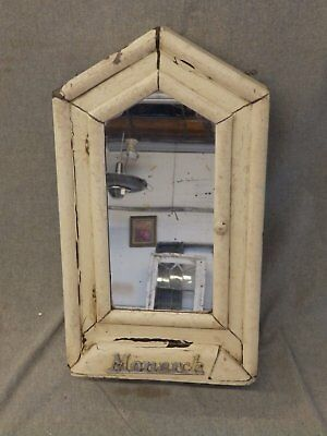 Small Antique Wood Country Folk Art Cupboard Medicine Cabinet Old Vtg  257-16