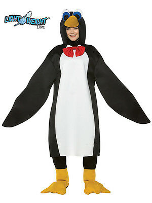 Adult Lightweight Animal Penguin Fancy Dress Costume Mens Ladies Outfit BN