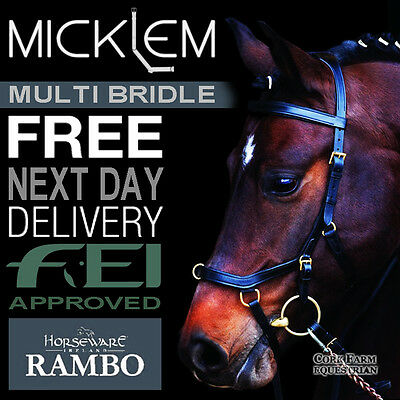Horseware Rambo MICKLEM MULTIBRIDLE Multi Bridle Bitless/Snaffle Black/Brown PCF