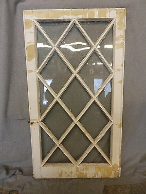 Antique Casement Window Sash Diamond Cabinet Door Shabby Cottage Chic 261-16