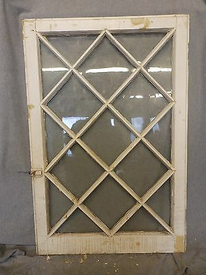 Antique Casement Window Sash Diamond Cabinet Door Shabby Cottage Chic 264-16