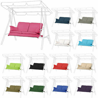 Replacement Swing Seat Hammock Cushions Set for 2 & 3 Seater Sizes Pads Garden