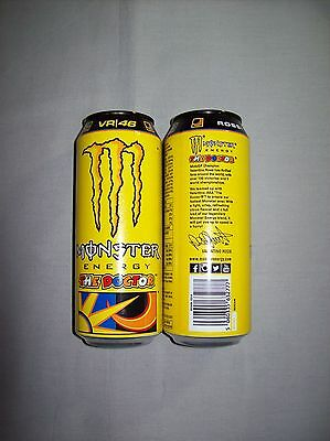 Genuine Limited Edition 500ml unopened can of Valentino Rossi Monster Energy