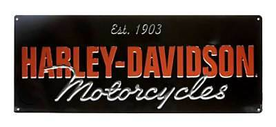 Harley-Davidson Embossed H-D Motorcycle Script Tin Sign, 18 x 7.125 inch 2010841