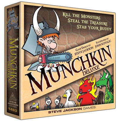 MUNCHKIN DELUXE EDITION CARD GAME BOARD GAME Xmas Gift Brand new