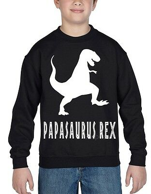 PapasaurusRex  Youth Crewneck Funny Father's Day  Family Love Dad Sweatshirts