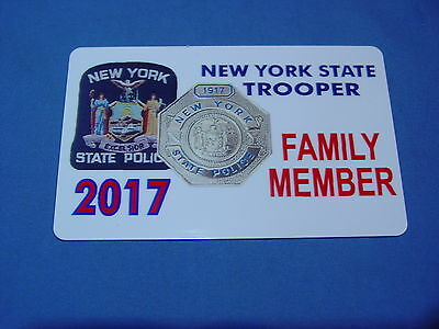 2017 Nysp  New York State Police  Card Family Member Pba Fop