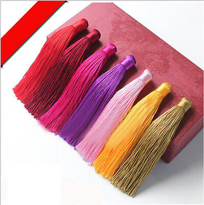 Hot 5x 12cm Silky Cotton Tassels -Colorful Curtains Cushion Crafts Card Making