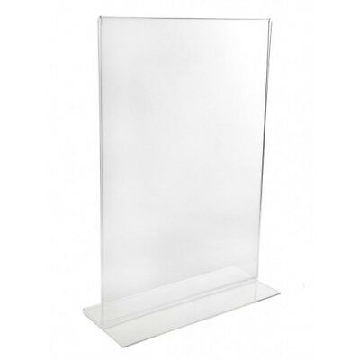 A4 Acrylic Double Sided Menu Holders Perspex Poster Leaflet Sign Display Stand
