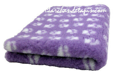 Drybed® Antiderapant Lilas Pattes Blanches