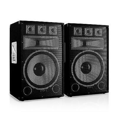 "Pair Of 15"" Pa Speakers 500W Rms Total Passive Pa Dj Disco Club Party Karaoke"