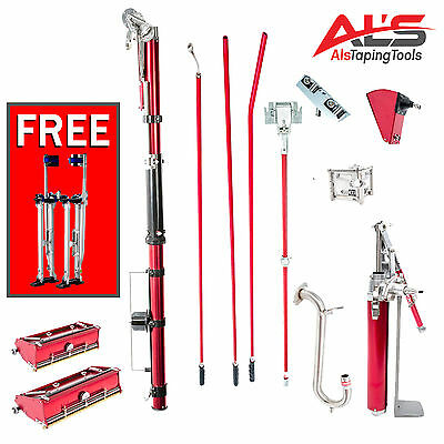 Level5 Full Set of Drywall Tools with 7 & 10 Inch Flat Boxes - NEW
