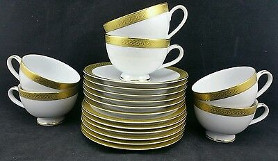 Good set of 6 Boots Imperial Gold Pattern Trios, Cup Saucer & Sideplate VGC