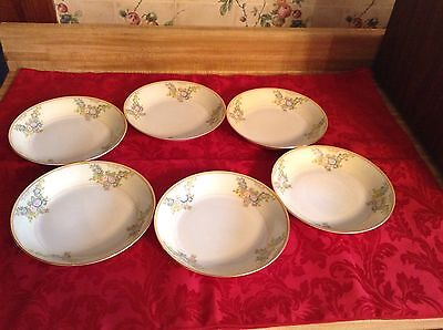 """Lot Of 6 Meito Mei357 Vintage Coup Soup Bowls 7 1/2"""" Exc Condition"""