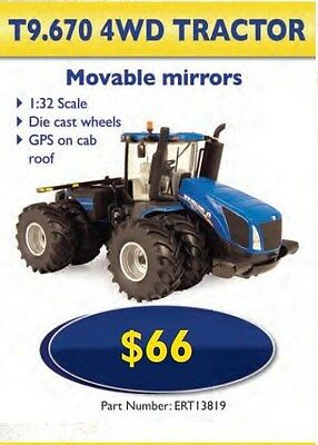 Toy NEW Holland T9.670 Scale 1:32 Replica Tractor  Part# ERT13819