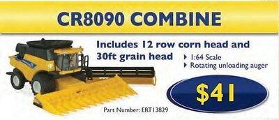 TOY NEW HOLLAND REPLICA CR8090 COMBINE  1:64 Scale Part# ERT13829