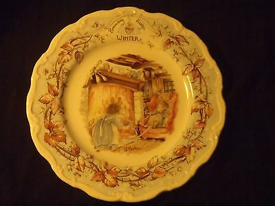 Royal Doulton Brambly Hedge Series Dessert Plate Winter  Jill Barklem 1982