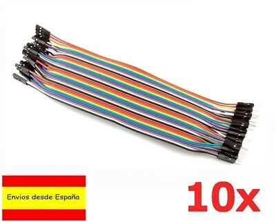 10x Cables 20cm Hembra Macho jumpers dupont 2,54 arduino protoboard cable K0009