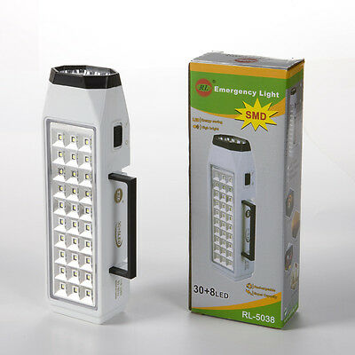 Portable 38-LED Rechargeable Emergency Light Home Outdoor Camping LED Torch