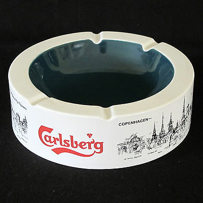 Carlsberg Beer Ceramic Table Ashtray with View of Copenhagen by Wade UK c.1970s
