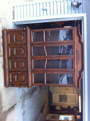 VINTAGE FURNITURE ANTIQUE DINING BUFFET (CUPBOARD CASE + CHEST of drawers)