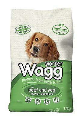 Wagg Complete Worker Dry Mix Dog Food Beef And Vegetables, 17kg - BRAND NEW -