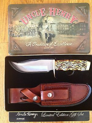 Schrade Uncle Henry Pro Hunter Knife 171Uh Limited Edition 2013 Sheath Gift Tin