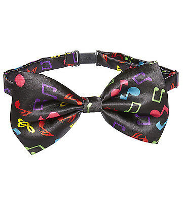 Music Pattern Bow Tie Bowtie Novelty Concert Festival Proms Jazz Nights