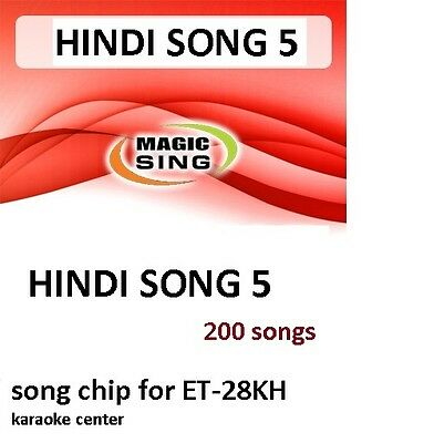 HINDI 5 CHIP Enter Tech Entertech Magic Sing Mic 200 Songs for ET28KH