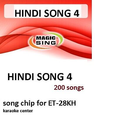 HINDI 4 CHIP Enter Tech Entertech Magic Sing Mic 200 Songs for ET28KH