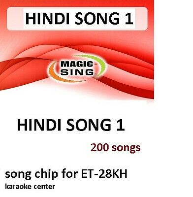 HINDI 1 CHIP Enter Tech Entertech Magic Sing Mic 200 Songs for ET28KH