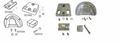 Omc Cobra Aluminum Anode Kit Sterndrive 4Pc W/fasteners Made In Usa Complete Kit
