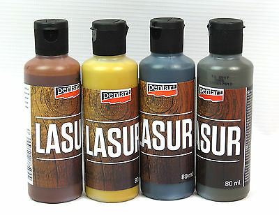 Pentart Indoor and Outdoor Woodstain Lasur Paint for Wooden Surfaces 80ml