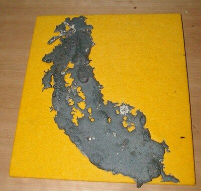 COOL 1970's  Industrial Cast Iron Foundry  Spill  Wall Art State of California