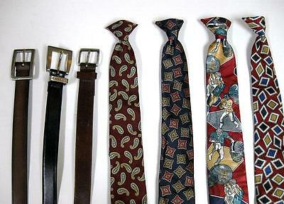 Boys 4 Clip On Ties and 3 Belts Levis Perry Ellis Andhurst