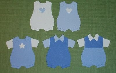 Baby Romper Embellishments Blue Pink Rainbow Die Cuts Paper Baby Clothes Cute