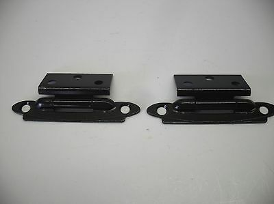 "Vintage BLACK Steel Cabinet HINGES for 3/8"" Offset Doors"