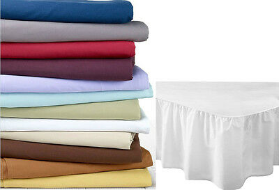 Luxury Soft Fine Quality PollyCotton Valance Fitted Sheet All Sizes Available