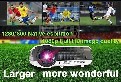 "5000 lumens Full HD 1080P Android 4.2 3D Wifi Smart Projector + FREE 100"" Screen"