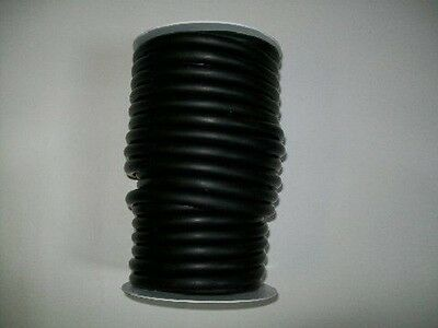 "50 Feet 3/8"" I.D x 1/16"" wall x 1/2"" O.D Latex Rubber Tubing Black Surgical Tube"