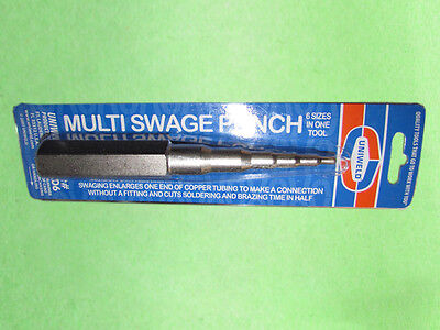"6 in1 Multi Swaging Punch 3/16"",1/4"",5/16"",3/8"",1/2"",5/8"" OD Uniweld 70006 CT-96"
