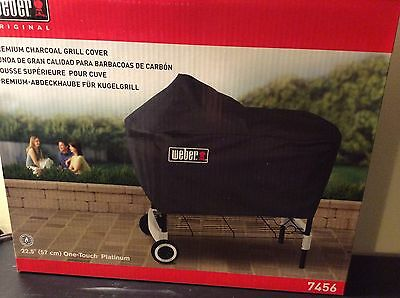 "Weber Premium Charcoal Grill Cover Fits One Touch Platinum Grills 22.5"" New"