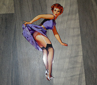 Aufkleber / Sticker Pin up  -  Oldschool/Retro/Hot Rod/Rockabilly