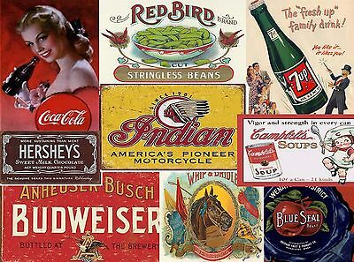 Vintage poster sign ads labels Over 8000 Pictures DVD-rom advertisements crafts