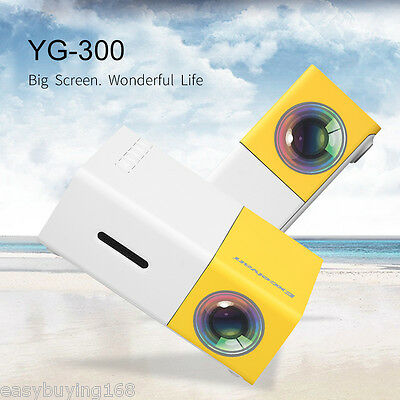 YG300 Mini LED Proyector 1080P HD Home Cinema Teatro AV USB SD card HDMI PC 16:9