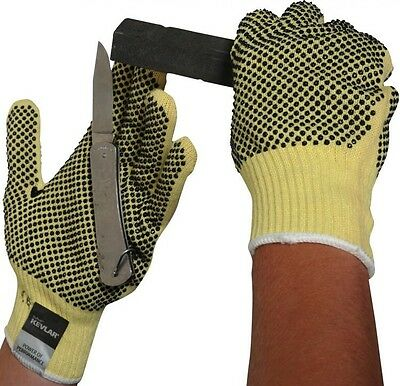 Cut Resistant Dotted Made With Kevlar  Heavy Weight Gloves Handling Protection