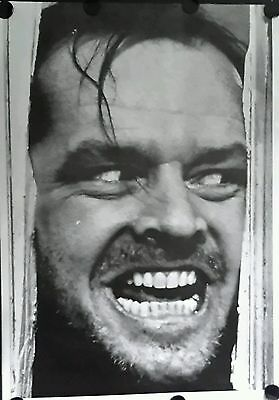 THE SHINING JACK NICHOLSON Vintage Giant Promo Poster FREE INT.SHIPPING