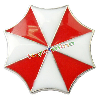 Resident Evil Umbrella Corporation Embroidered Logo Metal Badge Pin Brooches