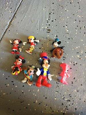 Vintage Mickey And Minnie Mouse Figure Lot