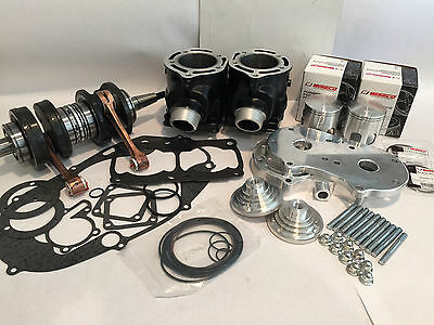 BANSHEE 66MM 410CC Ported Cylinders 4 mil Wiseco Long Rod Big Bore Stroker  Kit